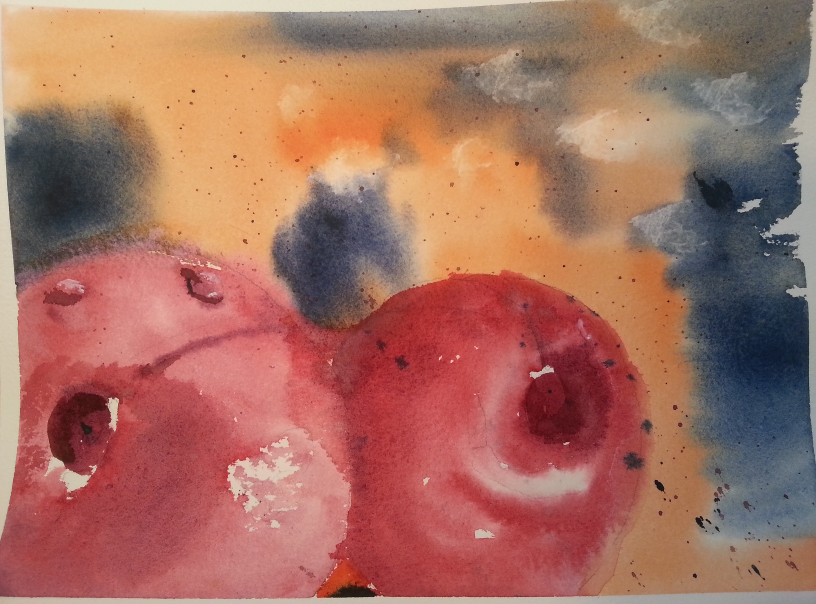 Nectarine Watercolor