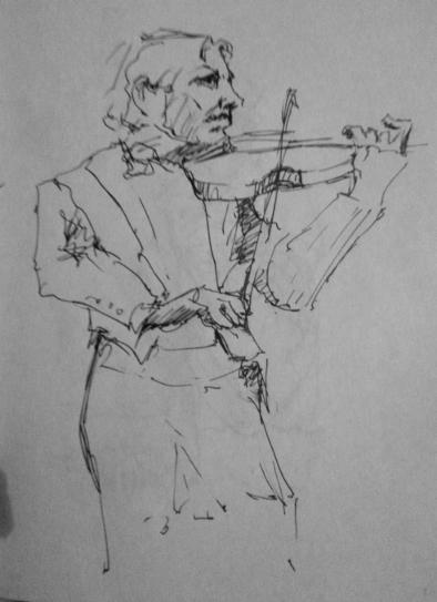 Statue of the famous violin player Arve Tellefsen.