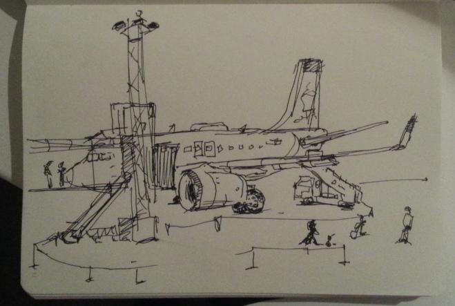 Plane docking(?)