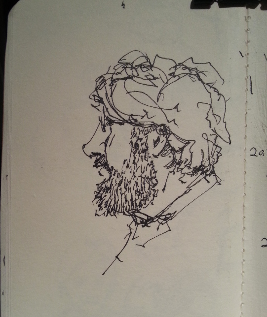 This guy had a full beard and scruffy hair. Good subject.